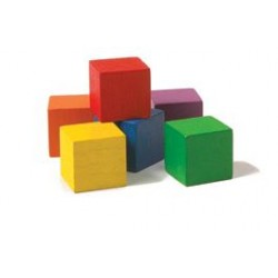 Wooden Colour Cubes Set/102