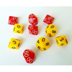 Place Value Dice, Ones and Tens, Set of 10