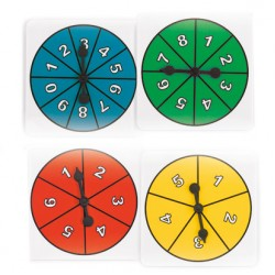 Number Spinners, Set of 4