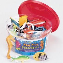 Fun Fish Counters, Set of 60