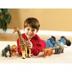 Jumbo Jungle Animals, Set of 5