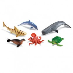 Jumbo Ocean Animals, Set of 6