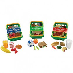 Healthy Foods Play Set, Set of 55