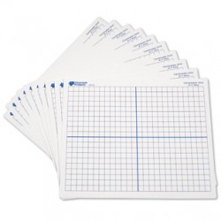 Double-Sided X Y Axis Dry-Erase Mats