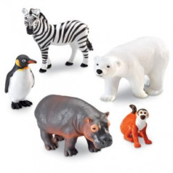 Jumbo Zoo Animals, Set of 5