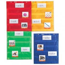 Magnetic Pocket Chart Squares, Set of 4