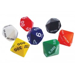 Jumbo, Place Value 10-sided Dice 7 pieces